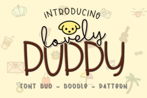 Lovely Puppy - Font duo with bonus