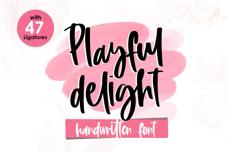 Preview image of Playful Delight – Handwritten Font
