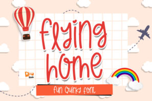 Flying Home - Quirky Handwritten Font