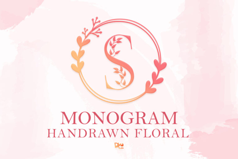 Preview image of Monogram Handrawn Floral