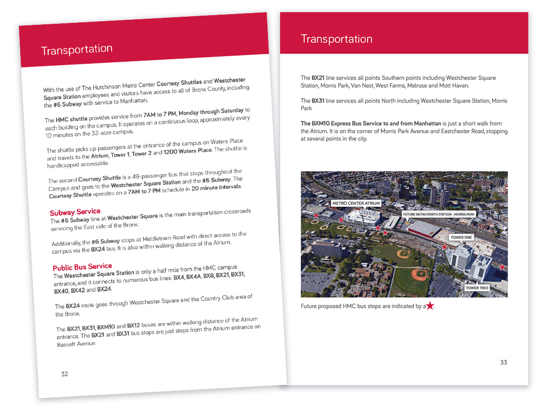 Affinity Health Plan - Welcome Booklet Transportation Pages