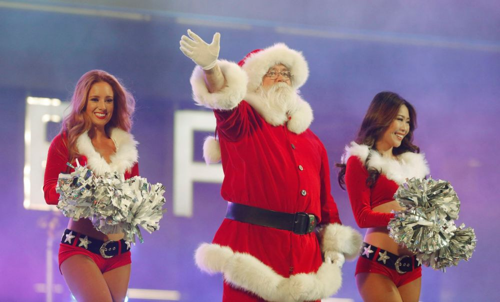 Look for Santa and the Dallas Cowboys Cheerleaders, plus the Cowboys Rhythm and Blue Dancers and Drumline, mascot Rowdy and Cowboys players, at the Christmas Spectacular at The Star in Frisco.