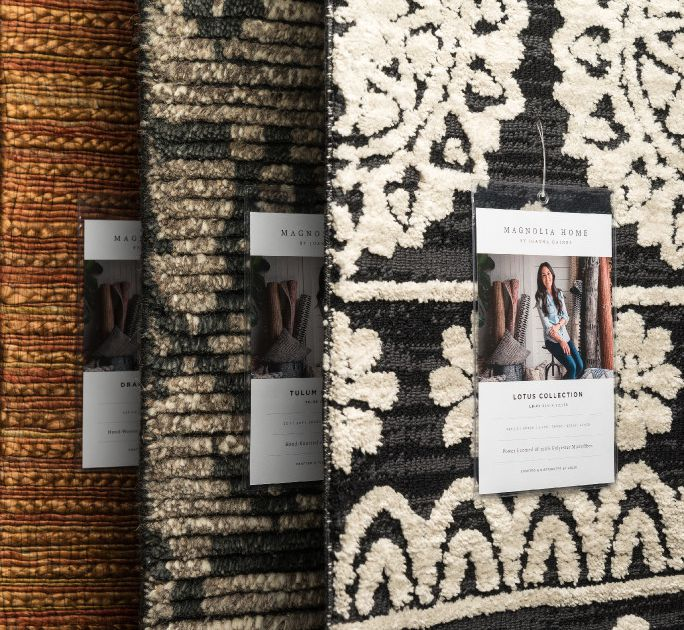 by joanna gaines rugs and loloi pillows