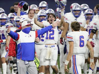 Austin Westlake head coach Todd Dodge quarterback Gerterbeck Cade Klubnik () 's term ends in the Class A Division I state football championship game on Saturday, January 16, 2021, against Southlake Carroll at AT&T Stadium in Arlington. Won by -34.  Texas.