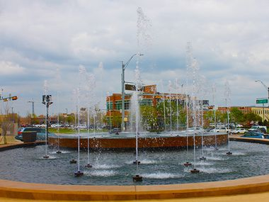 The Park Village fountain, here in 2015, did work once upon a time.