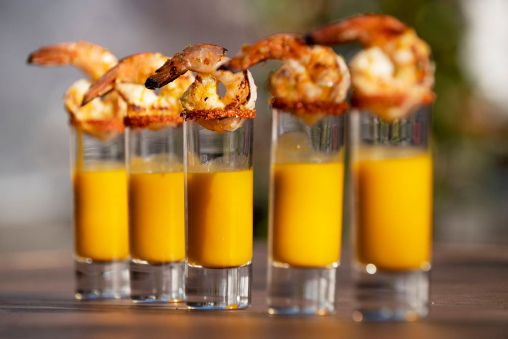 Spider Murphy's, an Irish pub, will have Texas influences on the menu, like these shrimp mezcal shooters.