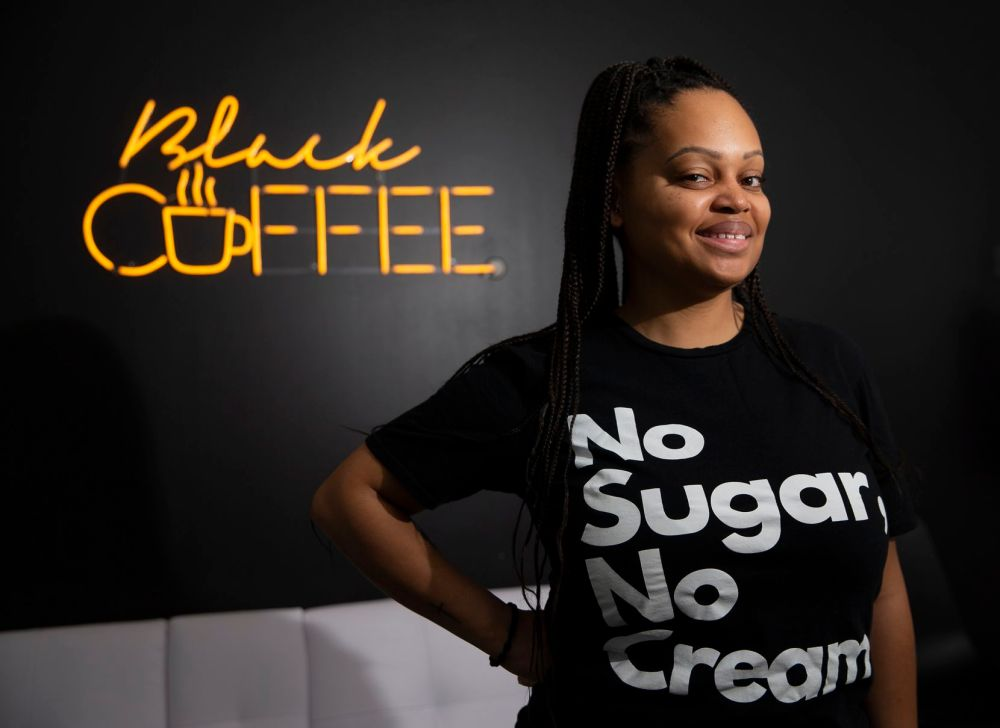 Mia Moss is the owner of Black Coffee in Fort Worth.