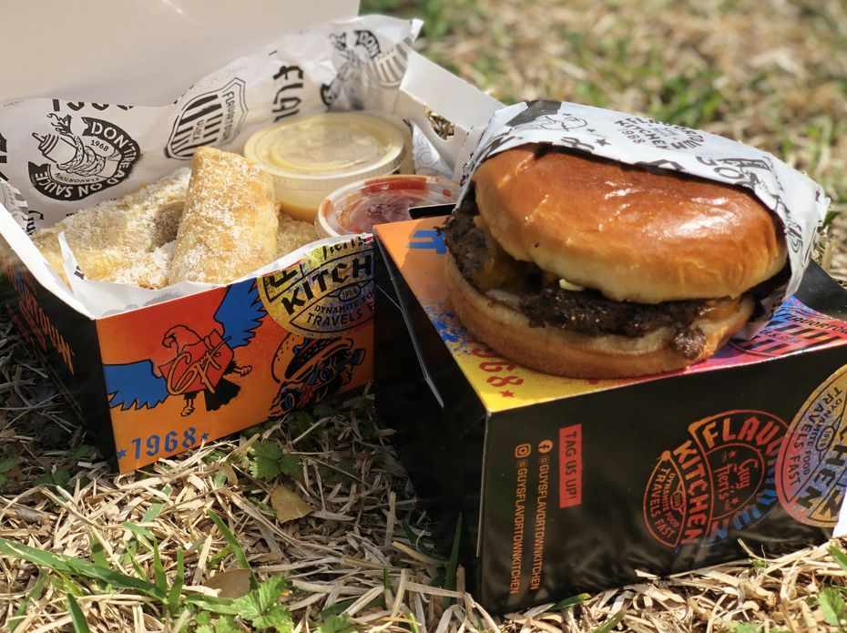 Guy fieri cooked meals for first responders, firefighters and others. Guy Fieri S Flavortown Kitchen Is Delivering Food To Four Areas Of Dallas Fort Worth