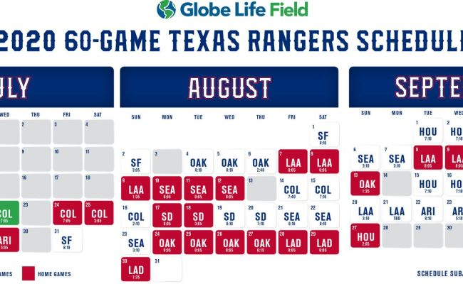 Rangers 60 Game Schedule Breaking Down The Positives