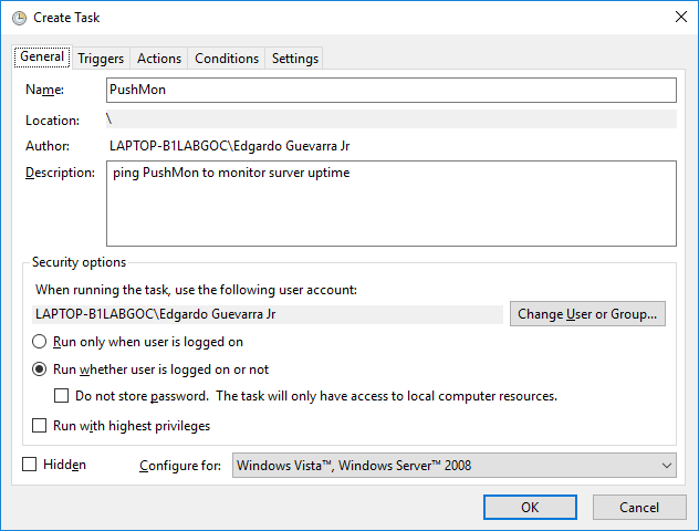 Monitor your Windows Server using PushMon