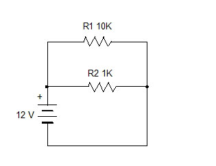 Ohms Law and Voltage through Resistor. Simple Design 2