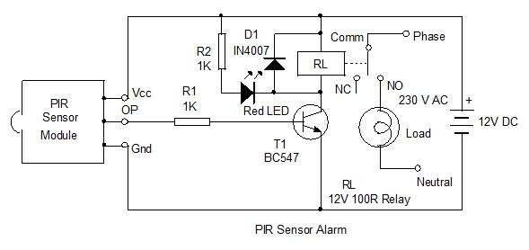 PIR Light Switch. Home Utility Circuit 3