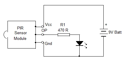 PIR Light Switch. Home Utility Circuit 3