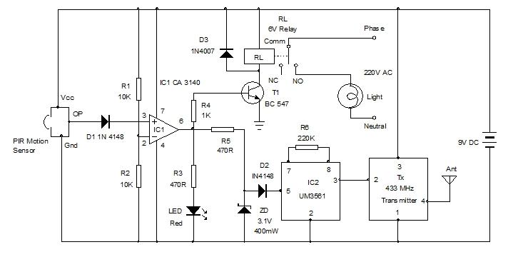 PIR sensor based home surveillance system