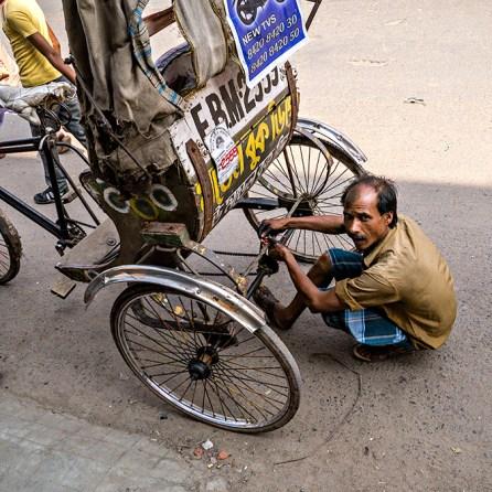 cycle-rickshaw repair, malda, west bengal