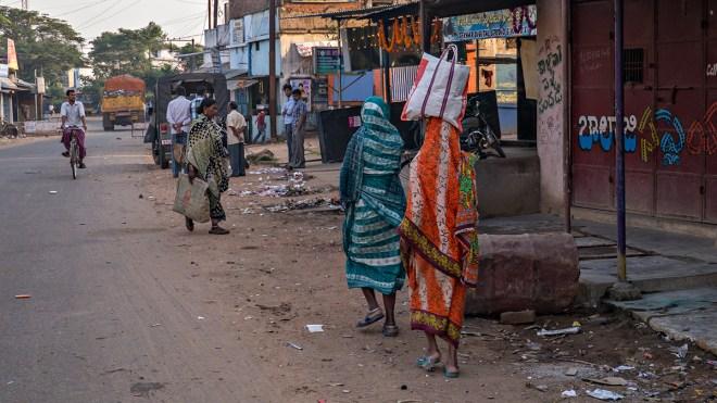 Ichchapuram main street in the morning