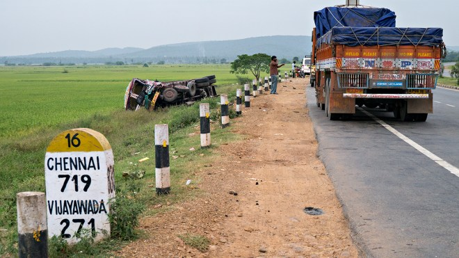 Truck accident, NH5