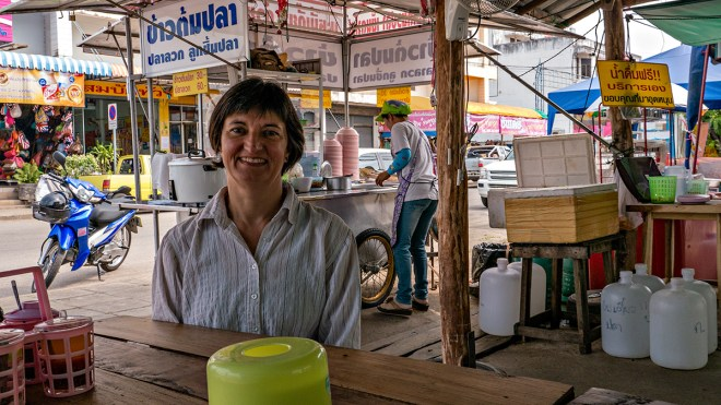 We had a lunch of noodle soup whilst waiting for our bus at Phayao