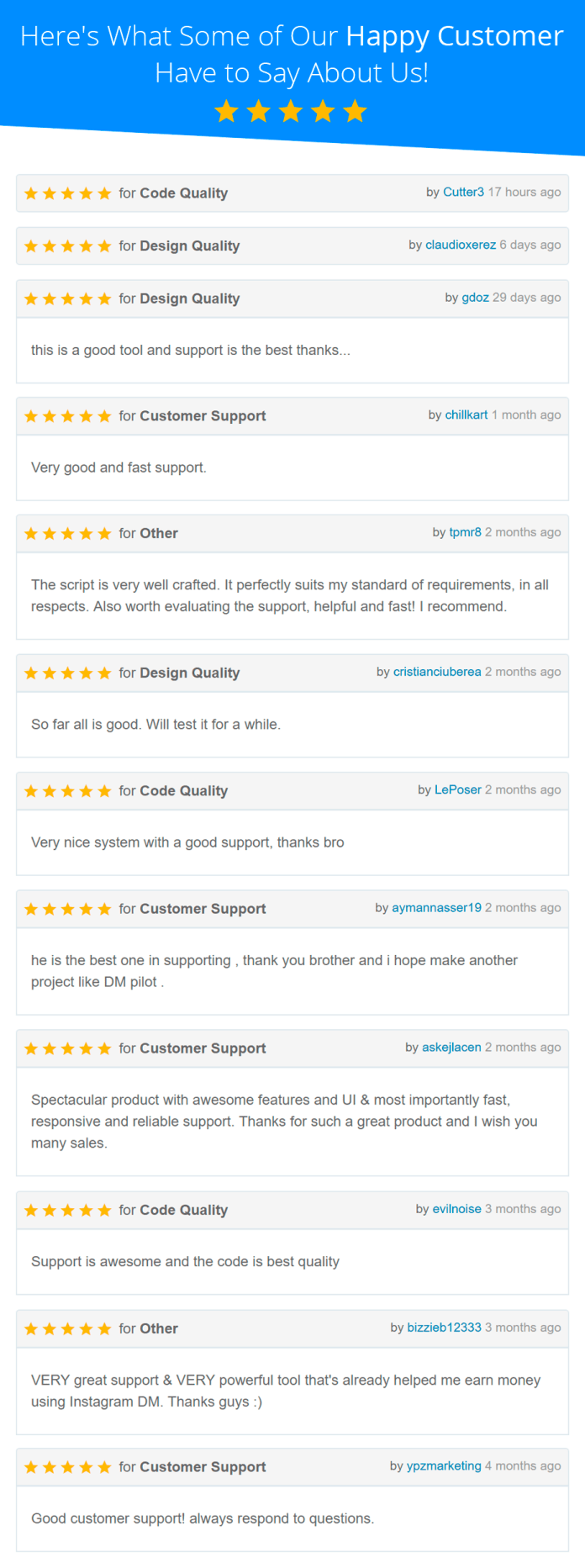 Here's What Some of Our Happy Customer Have to Say About Us!