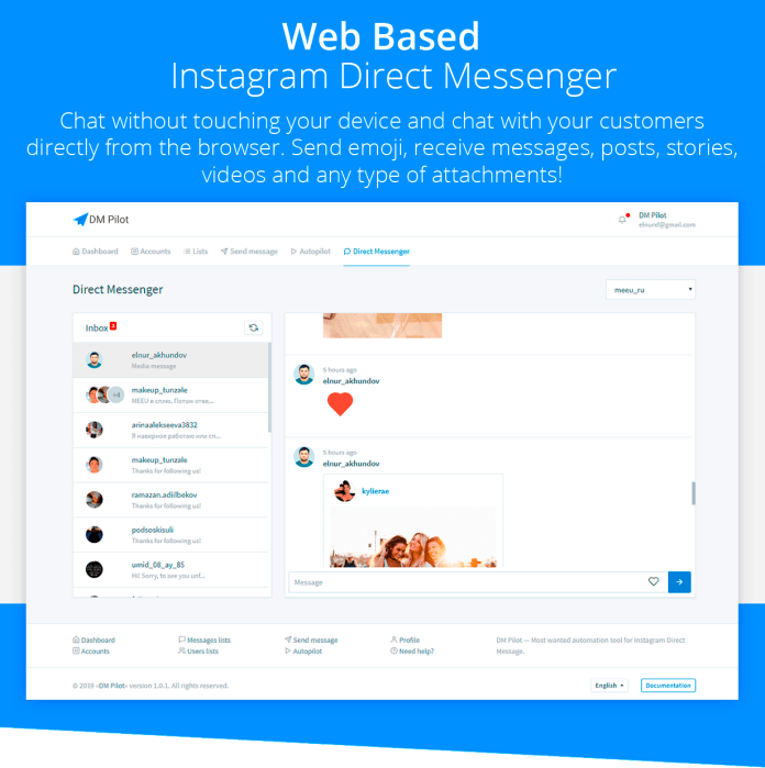 Web Based Direct Messenger