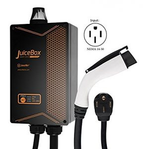 Juice Box Electric Vehicle charger installed by DMR Electric.