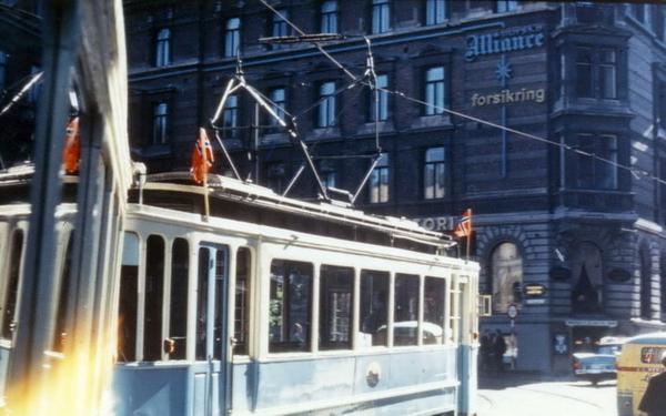 Oslo Sporveier Gammel Trikk Ss Motorvogn 110 Fra 1913