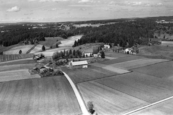 Haugen Skole I Skiptvet Flyfoto 8 Juni 1959 østfold