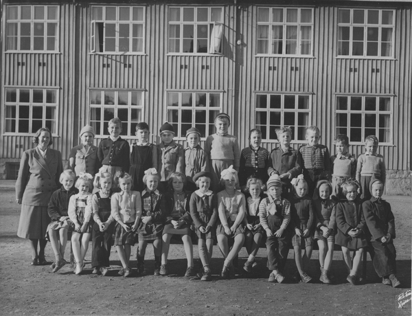 1 Klasse Ved Sagdalen Skole Akershusbasen Digitaltmuseum