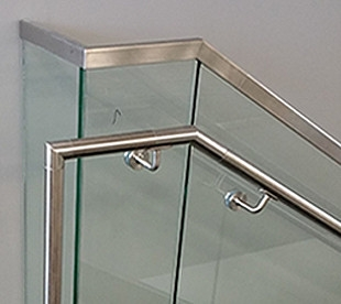Morse Industries L Stainless Steel Handrail Kits Glass Rail   Stainless Steel Handrails Near Me   Glass Railing Systems   Staircase Railing   Stair Railing   Metal   Relaxdays Stainless