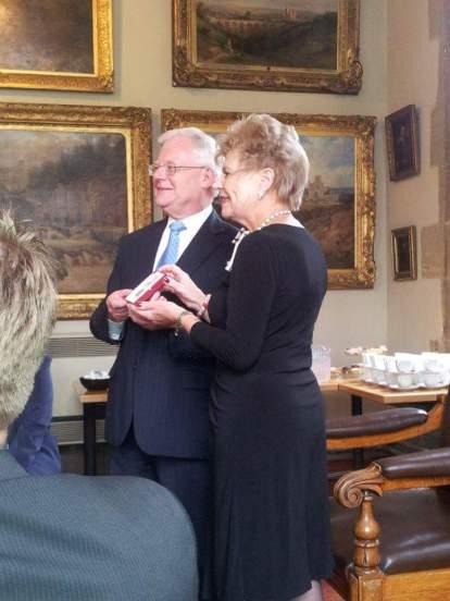 Fred Wharton Receives British Empire Medal