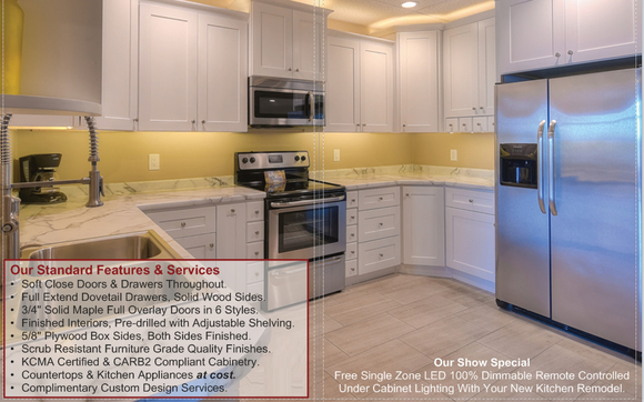 kitchen az cabinets grey remodeling showroom special by more visit one of our bath in chandler or glendale and mention alignable get a free 100 dimmable remote controlled single zone led