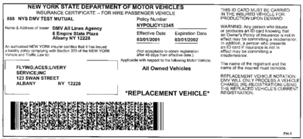 Apart from a car insurance template, there are other documents that serve as proof of insurance: New York Dmv Sample Ny State Insurance Id Cards
