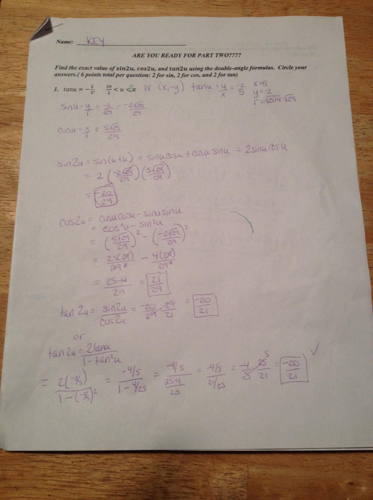 Trigonometry A2 A4 01 05