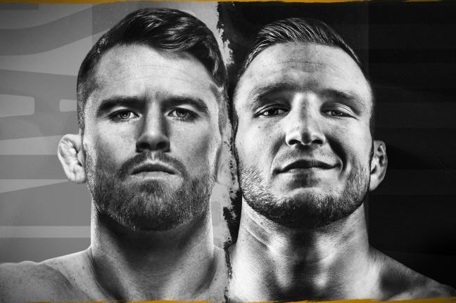 Promotional image for upcoming UFC event Sandhagen vs. Dillashaw