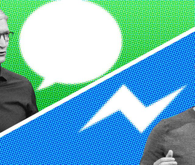 Apple Facebook Messaging Rivalry Hints At Intensifying Services Battle