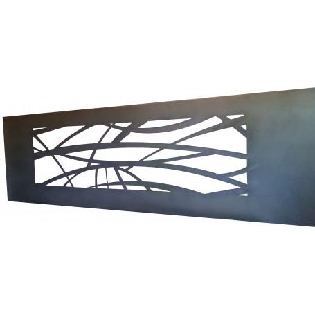 tete de lit en acier brut ou en aluminium brut