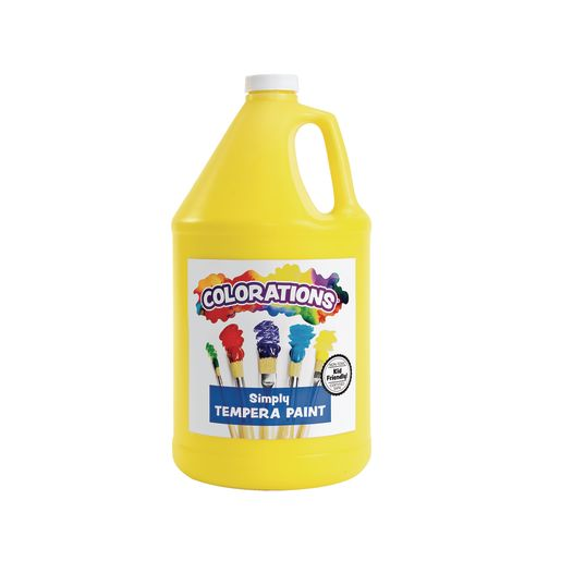 Colorations� Simply Tempera Paint, Yellow - 1 Gallon