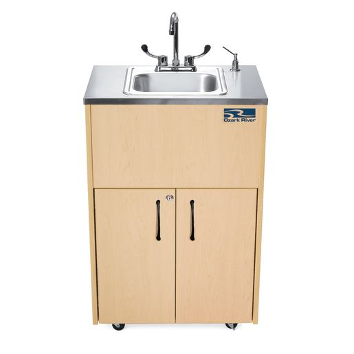 Ozark River Portable Hot Water Sink with Stainless Top