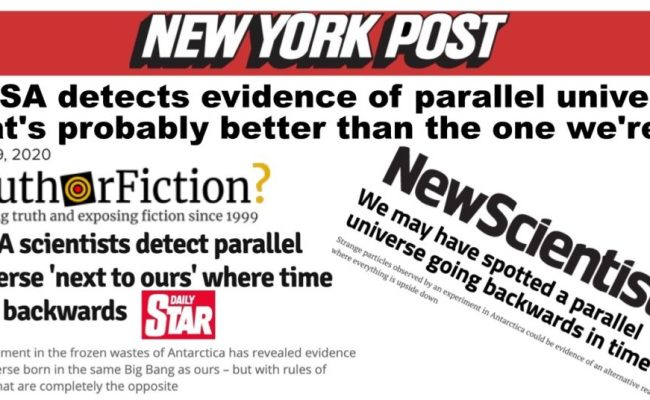 Nasa Detects Evidence Of Parallel Universe That S Probably