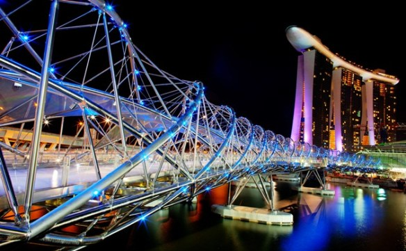 helix bridge night