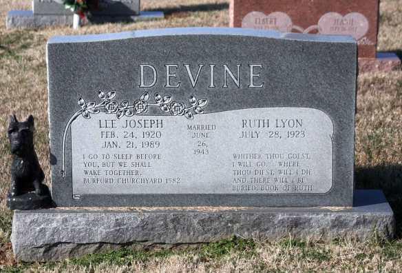 Devine cemetery stone