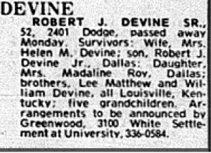 Robert Devine obit cropped