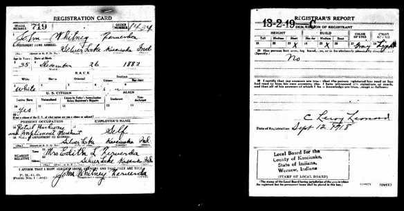John Ferverda WWI draft
