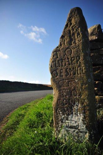 ancient road sign