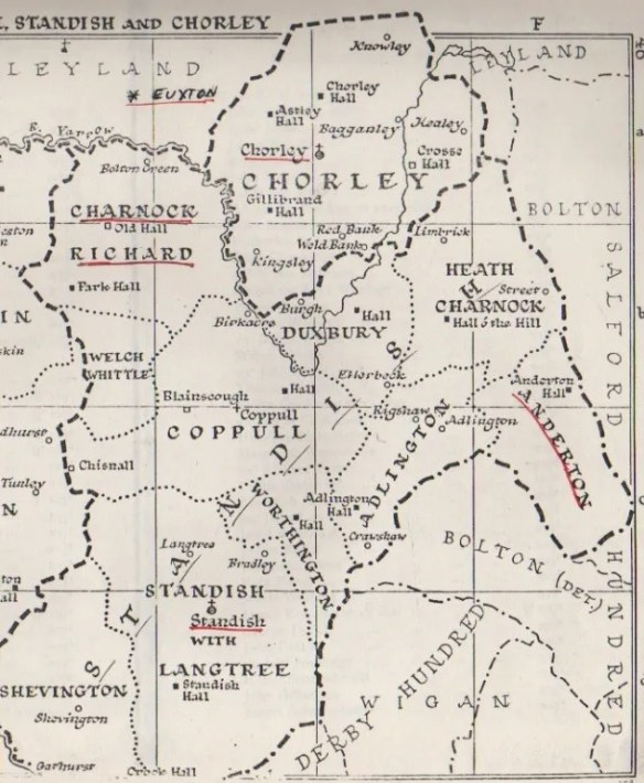 Charnock Richard old map