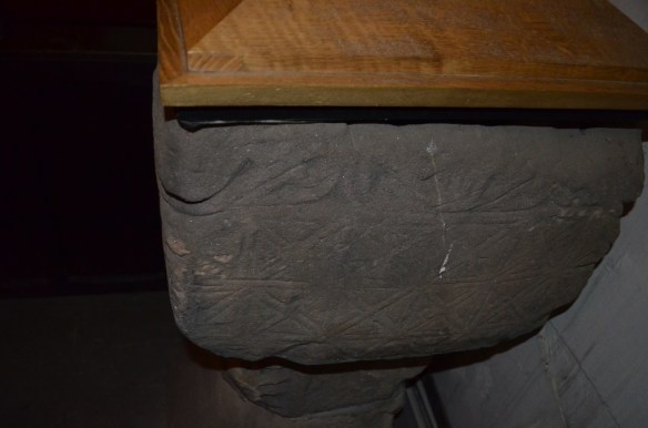 St Laurence bapistry carvings