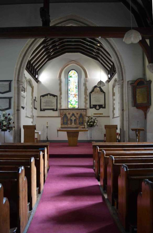 St Nicholas Sholden interior