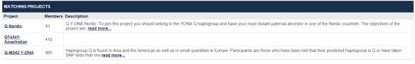 haplogroup proj 1