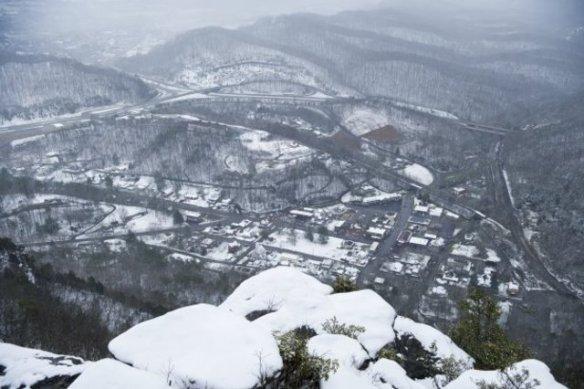snow at the gap