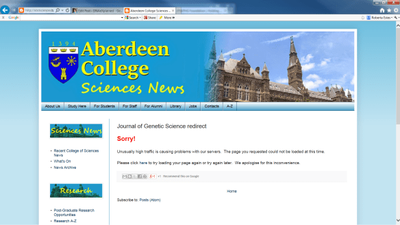 Aberdeen College bogus site
